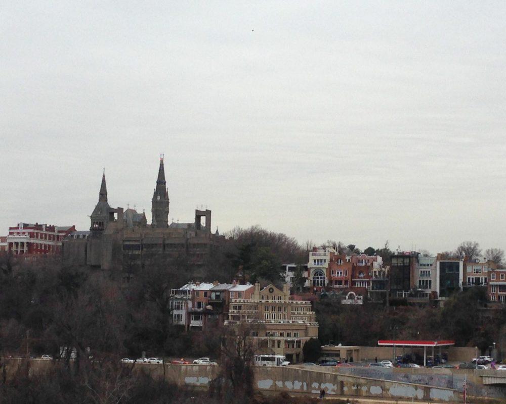 Washington DC Georgetown Skyline